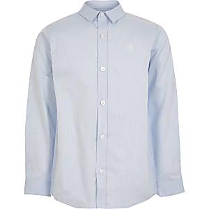Blau gestreiftes Langarmhemd für Jungen