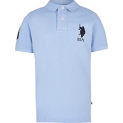 Boys blue USPA polo shirt