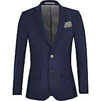 Boys bright blue suit jacket