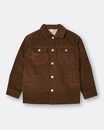 Boys brown corduroy shacket