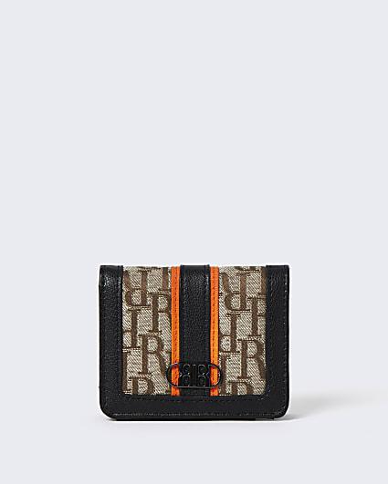 Boys brown RI print  nylon wallet