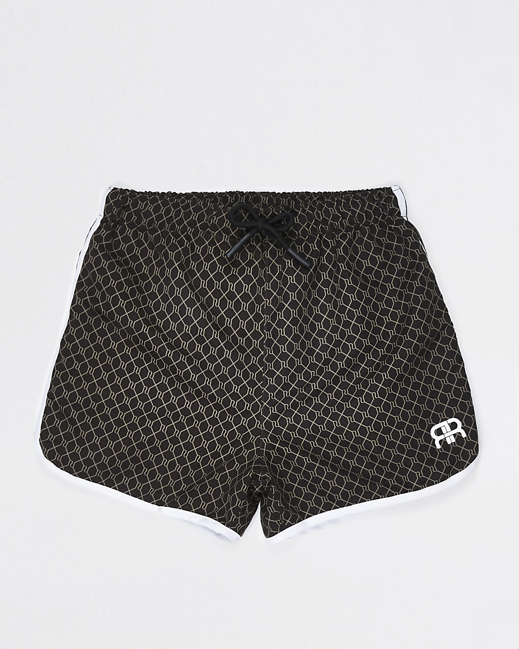 Boys brown 'RR' swim shorts
