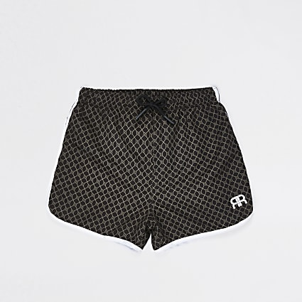 Boys brown 'RR' swim shorts