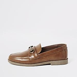 Bruine loafers met trens voor jongens