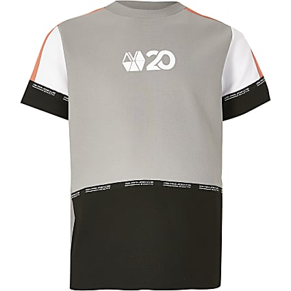 Boys coral RI Active block t-shirt