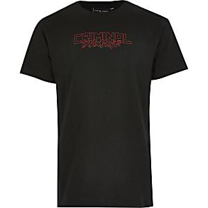 Criminal Damage – T-shirt dragon noir pour garçon