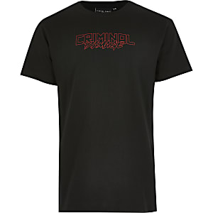 Criminal Damage - ZwartT-shirt met draakprint voor jongens