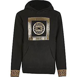 Criminal Damage - Zwarte hoodie met print voor jongens
