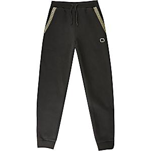 Criminal Damage – Pantalon de jogging imprimé noir pour garçon