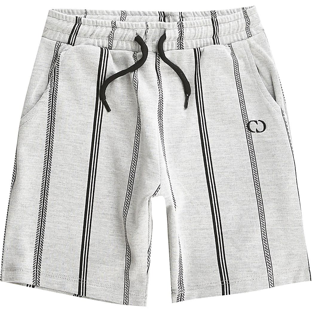 Criminal Damage - Grijze short met strepen voor jongens
