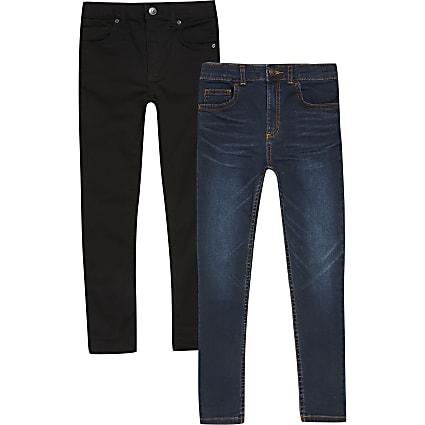 Boys Danny super skinny jeans 2 pack