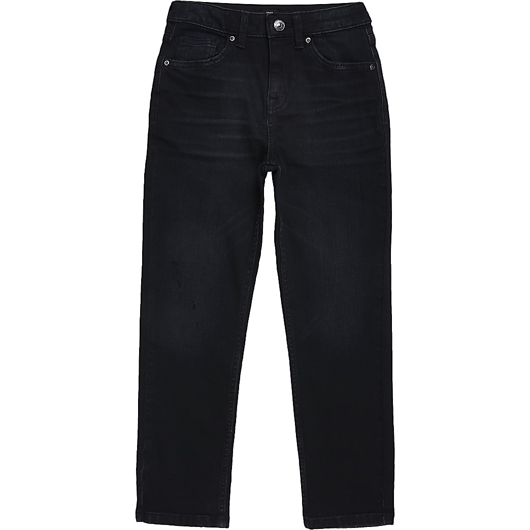 Jake - Donkerblauwe regular fit jeans voor jongens