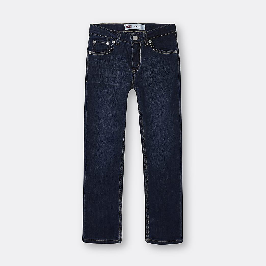 Boys dark blue Levi's slim fit jeans