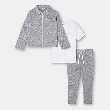 Boys dark blue Maison Riviera jogger outfit