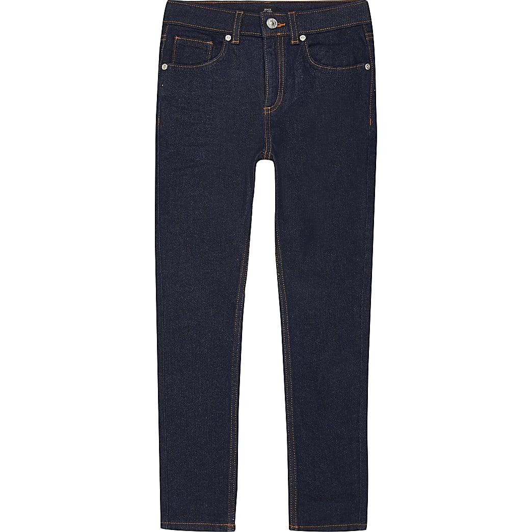 Boys dark blue rinse skinny Sid jeans