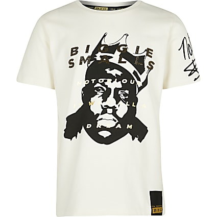 Boys ecru Biggie t-shirt