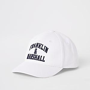 Franklin and Marshall – Casquette blanche pour garçon