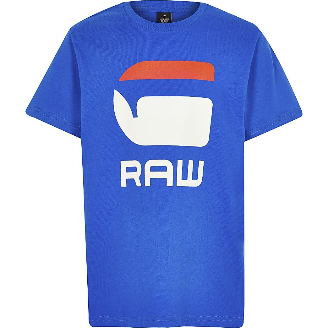 G-star – Raw – T-shirt bleu garçon