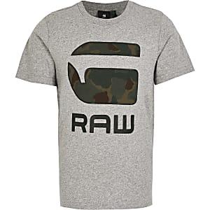 G-Star Raw – Graues T-Shirt in Camouflage für Jungen
