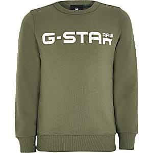 Boys G-Star Raw khaki logo sweatshirt