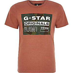 G-Star Raw - Rood T-shirt met print voor jongens