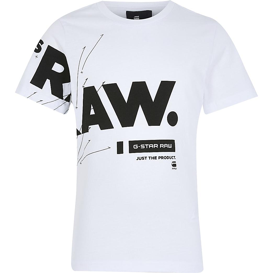 Boys G-Star White T-shirt