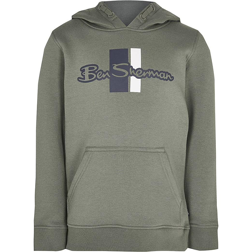 Boys green Ben Sherman hoodie