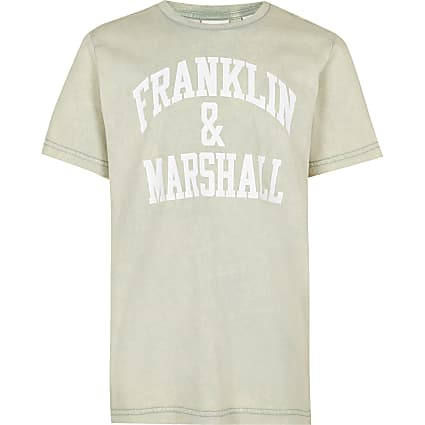 Boys green Franklin & Marshall t-shirt