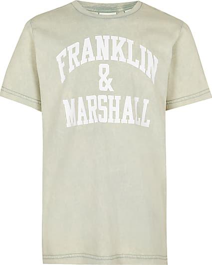 Boys green Franklin & Marshall t-shirt