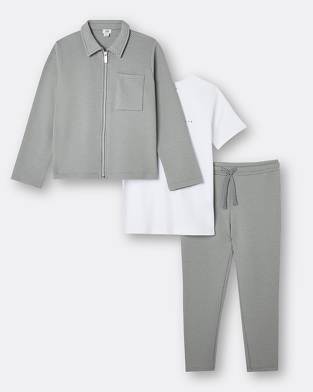 Boys green Maison Riviera jogger outfit