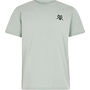Boys Green OB RVR Multibuy Mint Tshirt