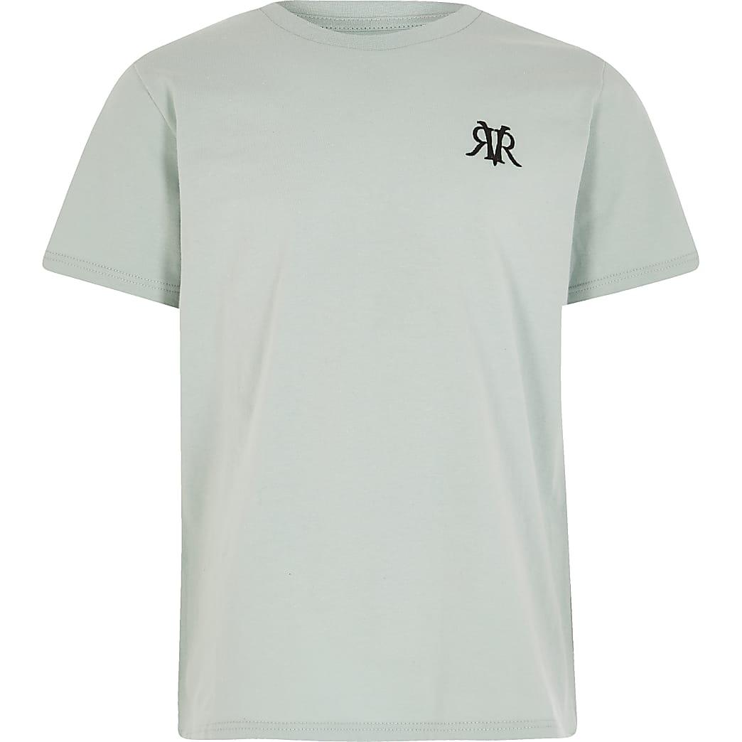 Boys Green OB RVR Multibuy Mint Tshirt