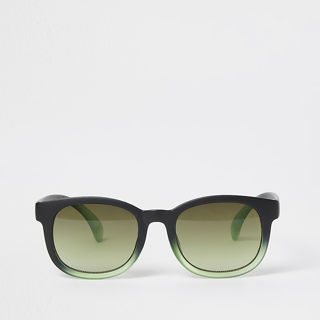 Boys green ombre sunglasses