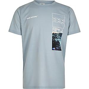 Groen T-shirt met 'Our future'-print voor jongens