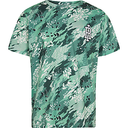 Boys green RI camo t-shirt