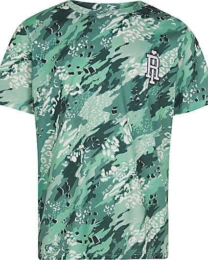 Boys green RI camo t-shirt