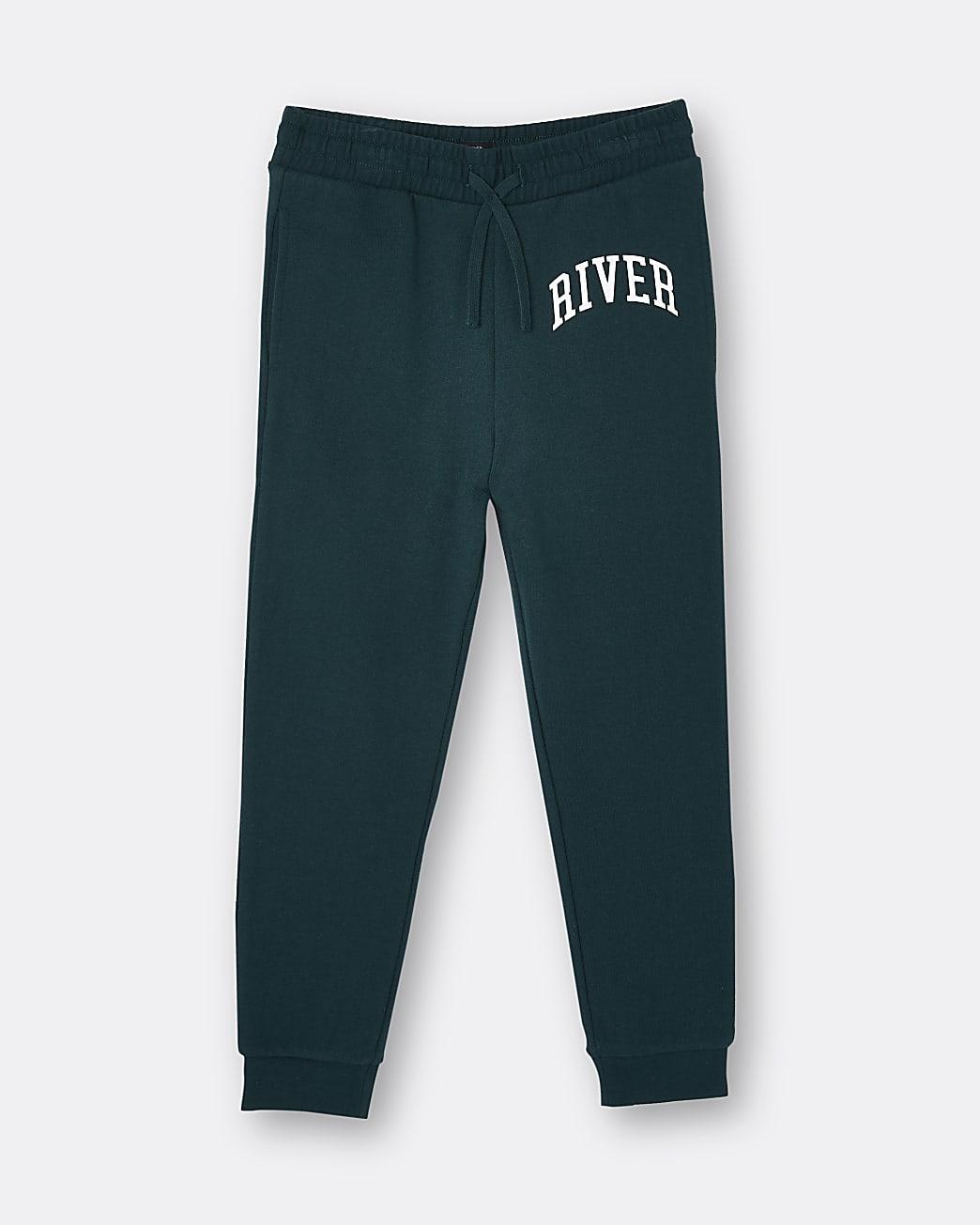 Boys green River joggers