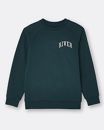 Boys green River sweatshirt