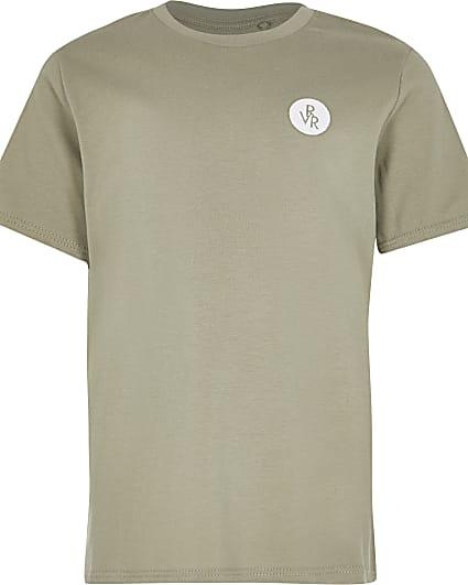 Boys green RVR chest print t-shirt