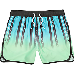 Boys green stripe Prolific swim shorts