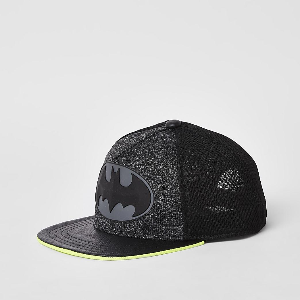 Grijze Batmanpet met neon voor jongens