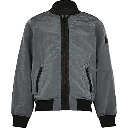 Boys grey bomber jacket