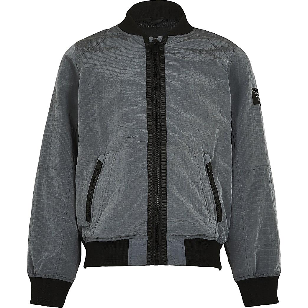 Boys grey bomber jacket
