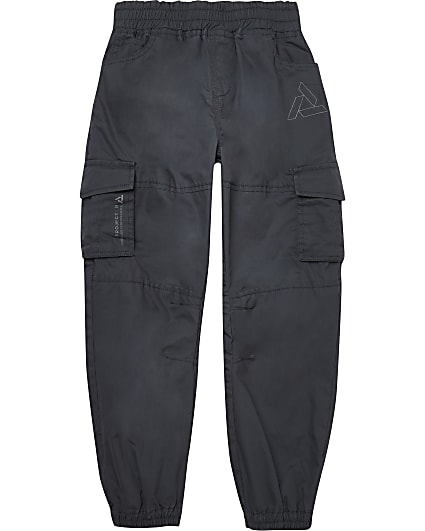 Boys grey cargo trousers