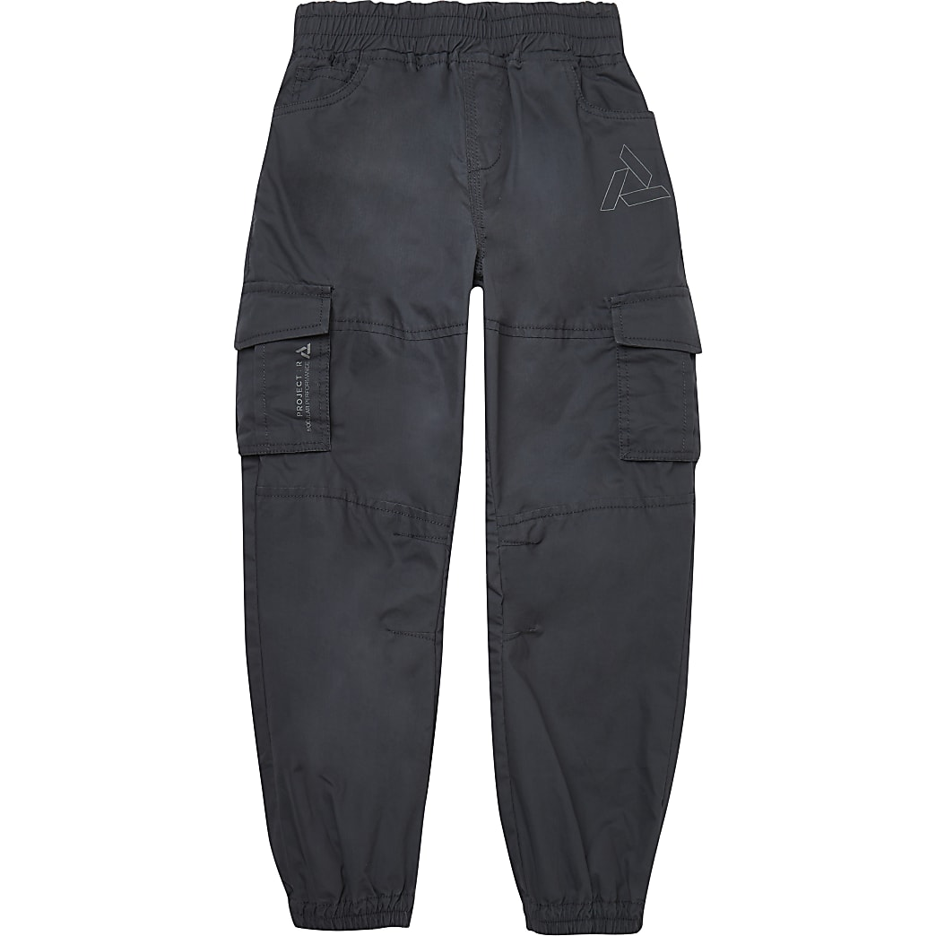 Boys grey cargo trousers