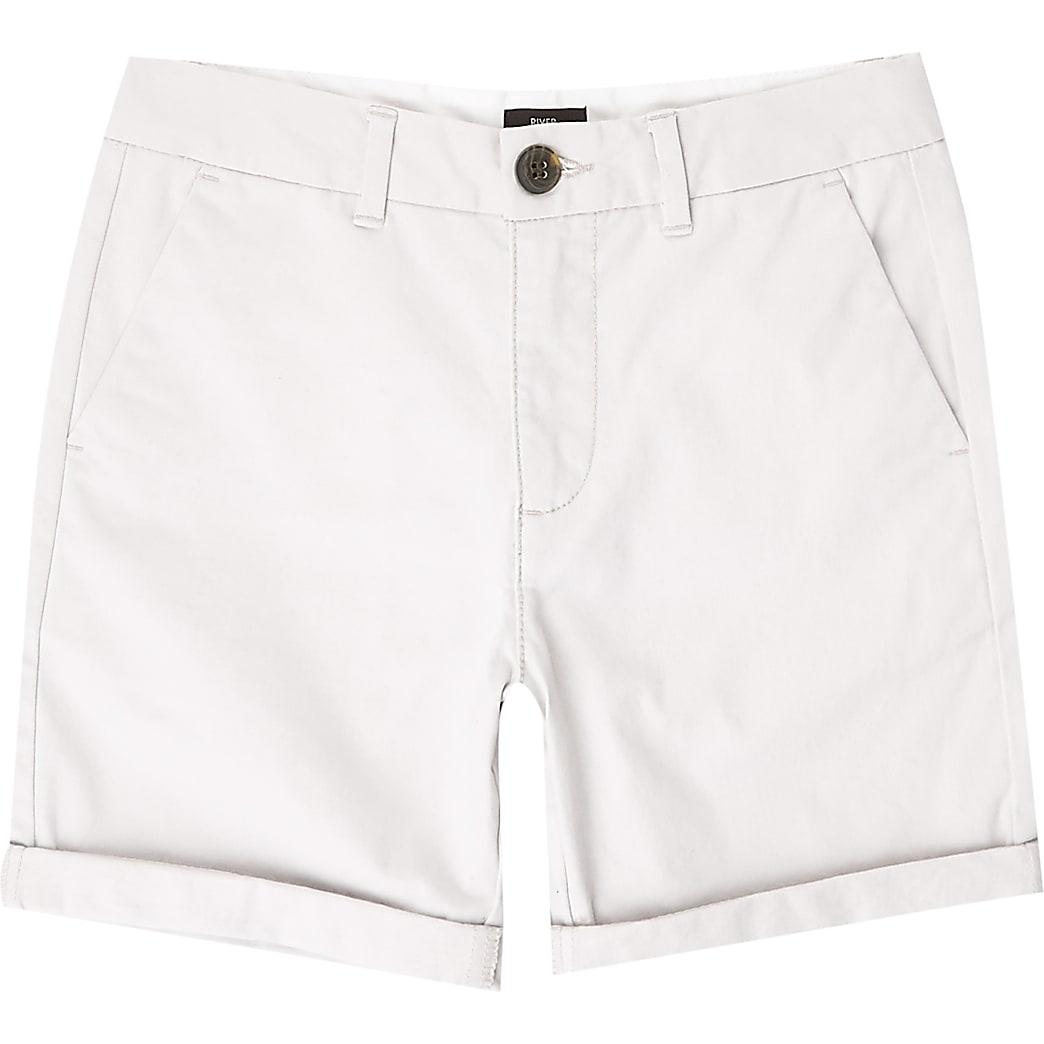 Boys grey chino shorts