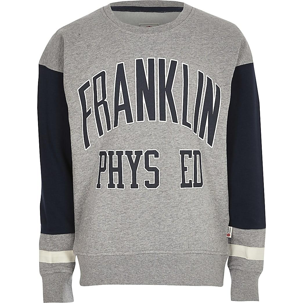 Boys grey Franklin & Marshall sweatshirt