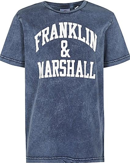 Boys grey Franklin & Marshall t-shirt