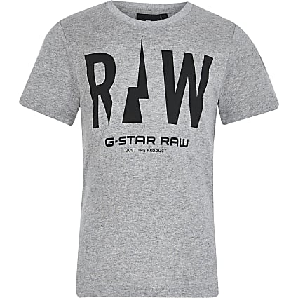 Boys grey G-Star print T-shirt