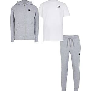 Boys grey hoody 3 piece set